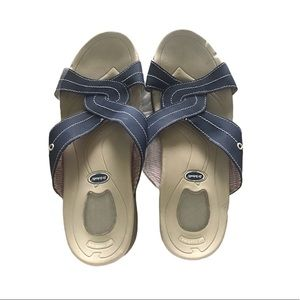 Dr Scholl's Parker Gel Cushioned Blue Sandal